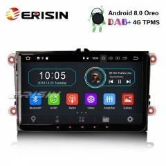 "Erisin ES8991V 9"" DAB + Радио Android 8.1 Автомобильный GPS Satnav OPS BT OBD для VW Golf Passat Tiguan Polo Seat"