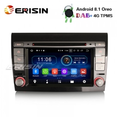 "Erisin ES3971F 7"" Android 8.1 Автомобильный стерео DAB + GPS WiFi CD OBD Bluetooth TPMS 4G для Fiat Bravo Satnav"