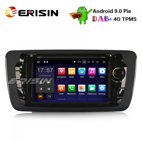 "Erisin ES4822S 7"" Android 9.0 Pie OS Авторадио для сиденья IBIZA GPS Wi-Fi TPMS DAB + BT OBDII DVB-T2 DVD-навигация"