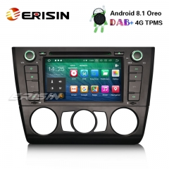 "Erisin ES3840B 7"" DAB+ Car Stereo Android 8.1 GPS Bluetooth 4G BMW 1 Series E81 E82 E88 Sat Nav DVD"