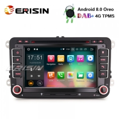"Erisin ES7848V 7"" Android 8.0 Car Stereo GPS OPS BT Wifi CD For VW Golf Tiguan Eos Polo Seat Skoda"