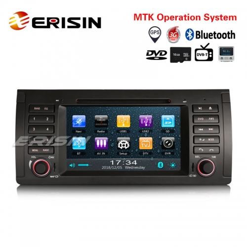 "Erisin ES739B 7"" Autoradio GPS BMW 5 Series E39 M5 E53 X5 TNT USB Bluetooth Canbus iPod DVR Radio"