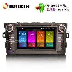"Erisin ES2917A 7"" Android 9.0 Автомагнитола DAB + GPS Wi-Fi SWC TPMS DVB-T2 TOYOTA AURIS 2007-12 Navi CD"
