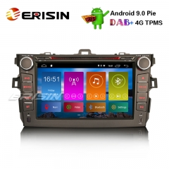 "Erisin ES2916C 8"" DAB + Android 9.0 Pie Car Stereo GPS WiFi DVR TPMS TOYOTA COROLLA 2007-11 Sat Nav"