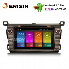 "Erisin ES2934R 8"" Android 9.0 Автомагнитола DAB + GPS Wi-Fi SWC TPMS DVB-T2 TOYOTA RAV4 2013-15 Navi CD"