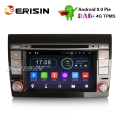 "Erisin ES4971F 7"" Android 9.0 Автомагнитола GPS DAB + WiFi OBD2 TPMS 4G DTV CD Bluetooth для Fiat Bravo"