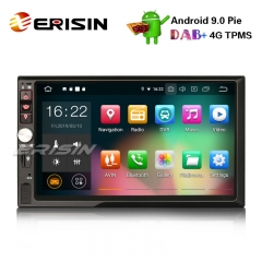 "Erisin ES7941U-64 7"" HD Double Din Android 9.0 Автомобильный стерео GPS Satnav WiFi TPMS DAB + DVR DTV-IN OBD2"