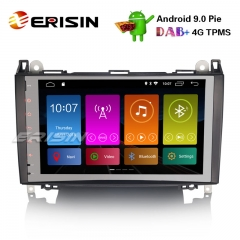 "Erisin ES2992B 9"" Android 9.0 Mercedes A / B класса Sprinter Viano Vito Стерео DAB + GPS TPMS 4G"