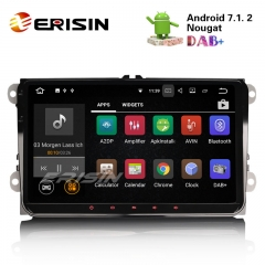 "Erisin ES3491V 9"" Car Multimedia Player Android 7.1 GPS System DAB+ DVR for VW Seat Eos"