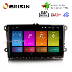 "Erisin ES2901V 9"" Android 9.0 Автомобильный стерео DAB + GPS DSP для VW Passat Golf 5 Tiguan T5 Polo Jetta"