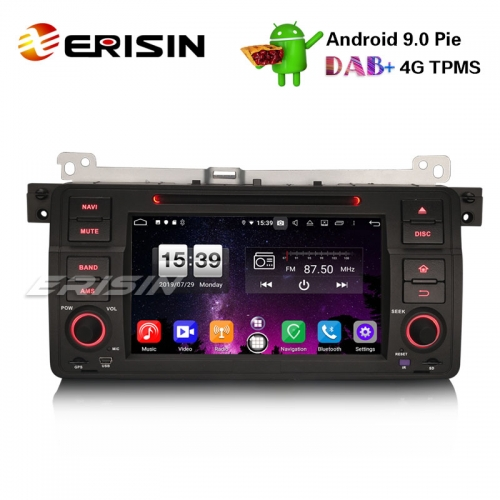"Erisin ES7746B 7"" 8-ядерный Android 9.0 BMW E46 318 320 325 M3 Rover75 MG ZT Автомобильный стерео GPS DAB + CD DVD BT"