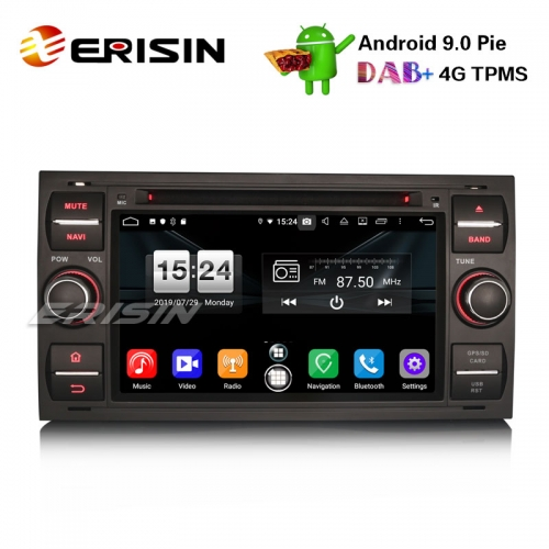 "Erisin ES7766FB 7"" Android 9.0 Oreo Автомобильный стерео GPS DAB + Bluetooth DVD для Ford C / S-Max Galaxy Kuga Focus Transit"