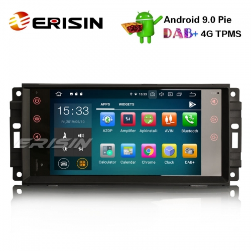 "Erisin ES7976J-64 7"" DAB + Android 9.0 Автомагнитола OBD GPS Sat для джипа Компас Commander Wrangler Dodge Chrysler"