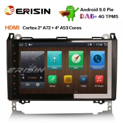 "Erisin ES6292B 9"" PX6 Android 9.0 DAB + автомагнитола GPS Navi HDMI для Mercedes-Benz A / B Classe Sprinter Viano VW Crafter"