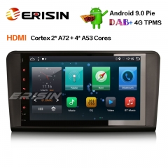 "Erisin ES6286L 9"" DAB + Android 9.0 Автомобильный GPS-навигатор HDMI AUX DTV 4G для Mercedes-Benz ML / GL-Klasse W164 X164"