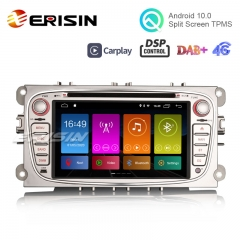 "Erisin ES2919FS 7"" Android 10.0 Car Multimedia Player GPS WiFi 4G TPMS DVR DAB+ DSP"