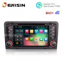 "Erisin ES5147A 7"" Android 10.0 Car GPS DVD DAB+ 4G WiFi for Audi A3"