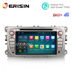 "Erisin ES5109FS 7"" Android 10.0 Car Stereo for Ford Focus DVD GPS 4G Wifi DAB+"