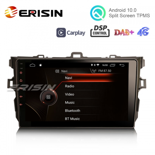 "Erisin ES4297A 9"" Android 10.0 Car Stereo for TOYOTA AURIS COROLLA ALTIS GPS DAB+ CarPlay DSP Radio TPMS"