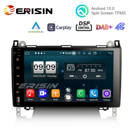"Erisin ES8792B 9"" PX5 DSP Android 10.0 Car Multimedia CarPlay & Auto GPS 4G DAB+ for Benz A Class B200"