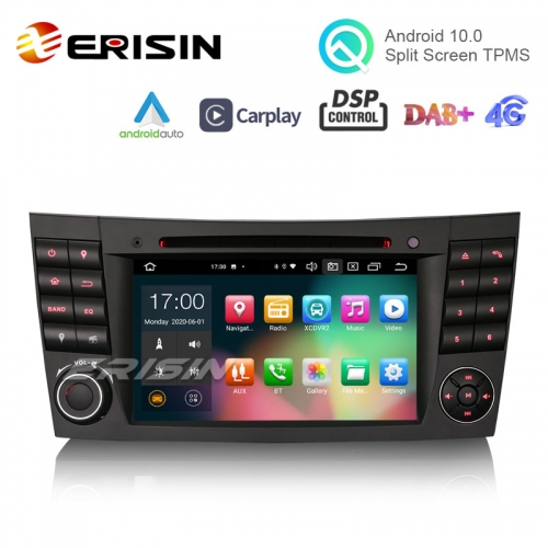 "Erisin ES8180E 7"" Android 10.0 Car DVD DSP CarPlay & Auto GPS TPMS DAB+ 4G for Benz E-Class W211 W463 W219"