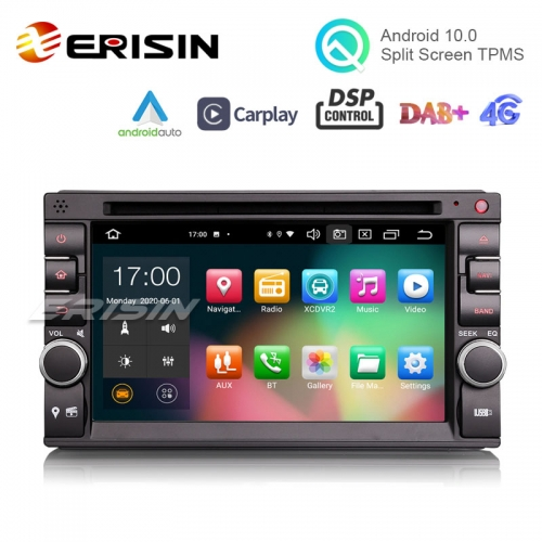 "Erisin ES8136U 6.2"" PX5 64GB 2 Din Android 10.0 Car Radio CarPlay & Auto GPS 4G DAB+ DSP DVD Player"