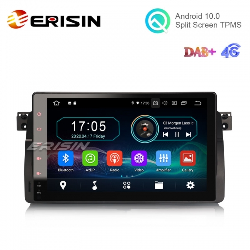 "Erisin ES6996B 9"" Android 10.0 Car Multimedia Player GPS Radio WiFi BT TPMS 4G for BMW 3 Series E46 M3 Rover 75"