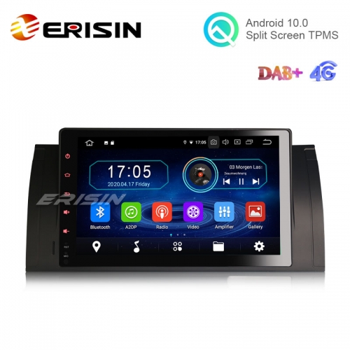 "Erisin ES6993B 9"" Android 10.0 Car Stereo GPS Radio WiFi BT 4G DTV DVR RDS for BMW 5 Series E39 X5 E53 M5"