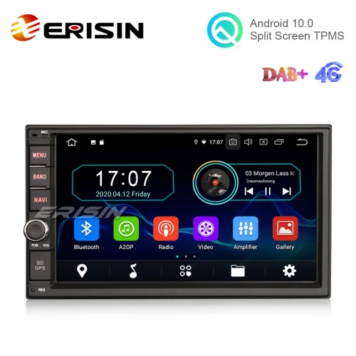 "Erisin ES6970U 7"" ISO 2 din Android 10.0 Car Multimedia with GPS Radio WiFi BT TPMS 4G DTV DVR RDS"