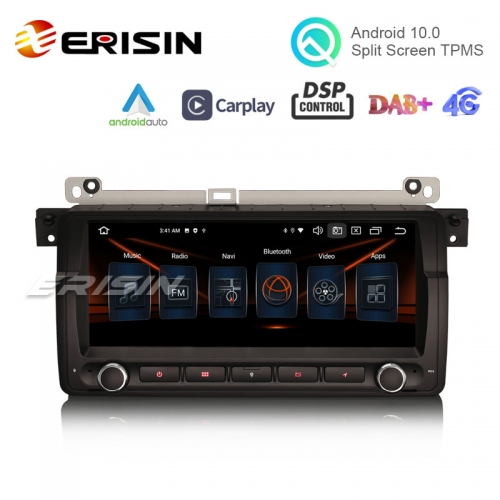 "Erisin ES8146B 8.8"" Android 10.0 Car Stereo for BMW E46 M3 CarPlay & Auto GPS TPMS DAB+ DSP DVR Canbus"