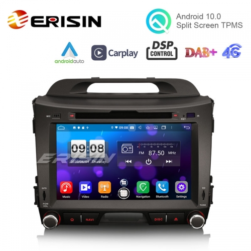 "Erisin ES8733S 8"" Android 10.0 Radio DVD CarPlay & Auto GPS 4G WiFi DSP TPMS DVR for Kia Sportage Car Multimedia"