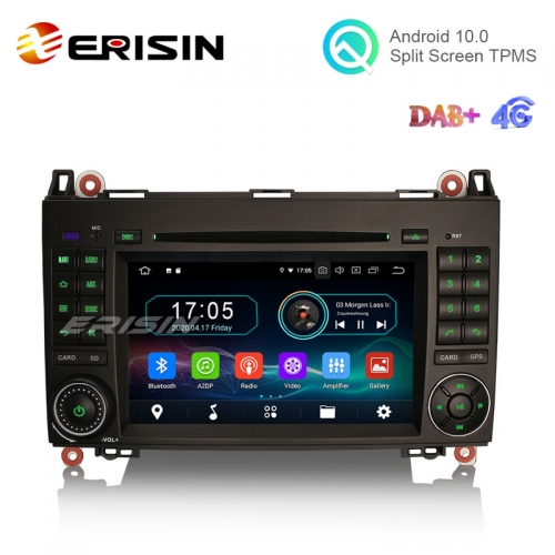 "Erisin ES5972B 7"" Android 10.0 Car GPS Radio WiFi BT DVD CD for Mercedes Benz A-Class W169 B-Class W245 Sprinter Viano Vito"