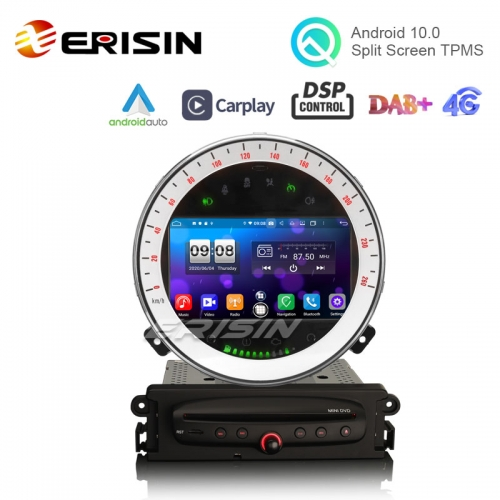 "Erisin ES8711M 7"" 64G Android 10.0 Car DVD GPS for BMW Mini Cooper CarPlay Auto DSP DAB+ RDS"