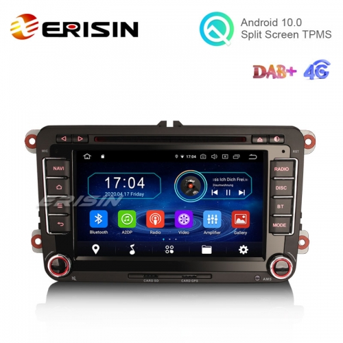 "Erisin ES5948V 7"" Android 10.0 Car DVD with GPS Radio WiFi BT OBD for VW Golf Plus Polo MK5 Magotan T5 Caravelle"