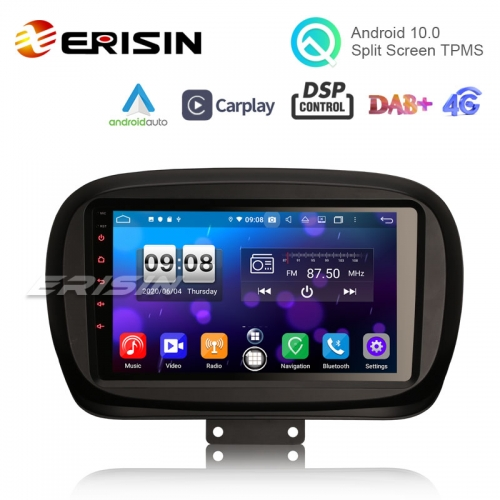 "Erisin ES8750F 9"" Octa-Core Android 10.0 Car Stereo for Fiat 500X 2014 Radio CarPlay & Auto DSP GPS TPMS DSP 4G OBD"