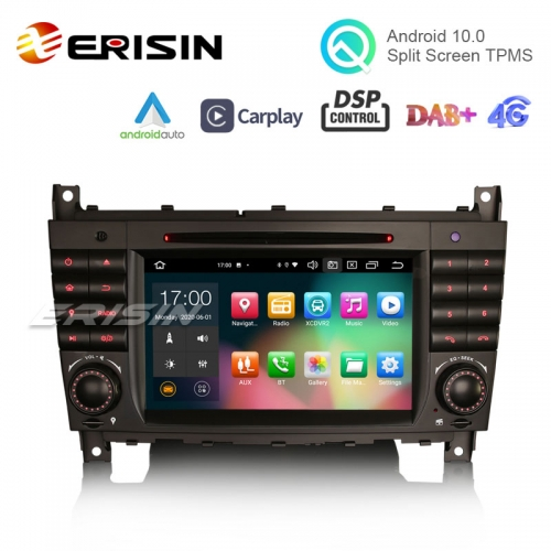 "Erisin ES8169C 7"" Octa-Core Android 10.0 Car DVD CarPlay & Auto GPS DVR for Benz CLC W203 CLK W209 C280 C300 C320 C350 C32"