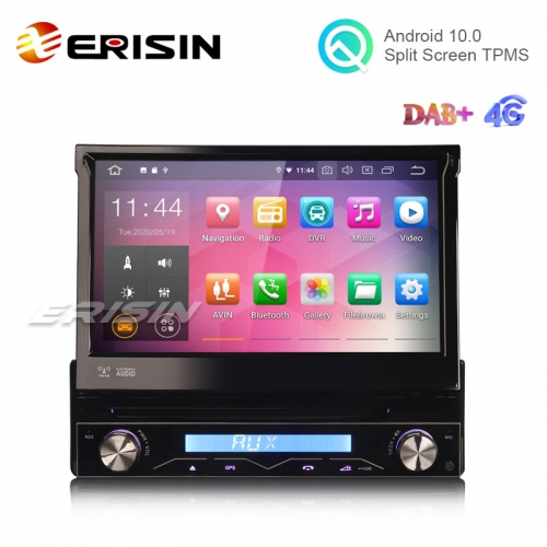 "Erisin ES5188U 7"" Android 10.0 Universal 1 Din Car DVD GPS Player 4G DAB+ CarPlay+"